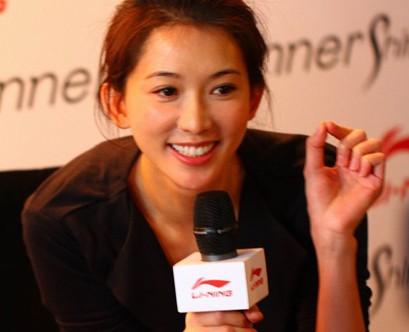林志玲代言运动品牌李宁